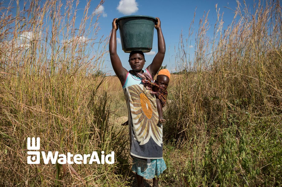 Our ongoing commitment to water aid. We donate 1 percent of our profits.