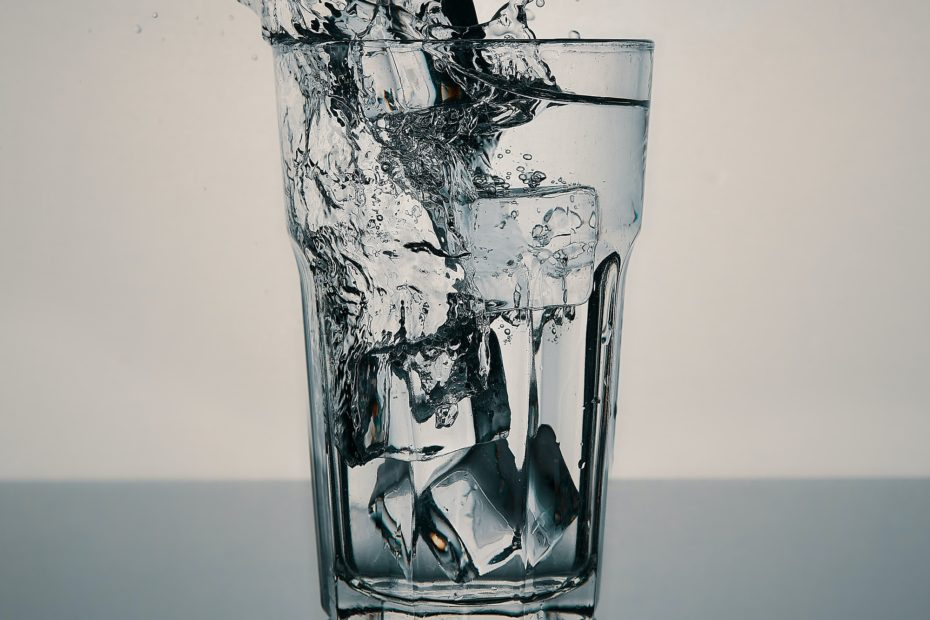 glass of pure distilled water